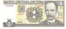 Cuba P 128 1 Peso 2010 UNC - Cuba