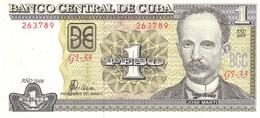Cuba P 128 1 Peso 2008 UNC - Cuba