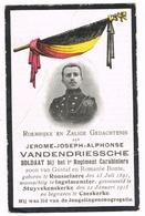 ROESELARE - INGELMUNSTER - STUIVEKENSKERKE - KAASKERKE ,  Doodsprentje Van Jerome VANDENDRIESSCHE , Gesneuveld 1915 - Images Religieuses