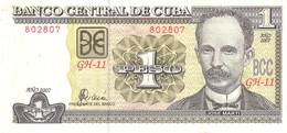 Cuba P 128 1 Peso 2007 UNC - Cuba