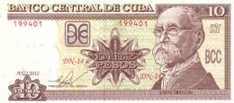 Cuba P.117 10 Pesos 2012 A-unc - Cuba
