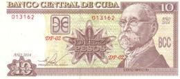 Cuba P.117 10 Pesos 2014 A-unc - Cuba