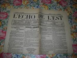 JOURNAL L'ECHO DE L'EST 31 Mars 1914. BAR-LE-DUC L'INAUGURATION DES BAINS DOUCHES Pôl CHEVALIER, MAGINOT - Journaux - Quotidiens