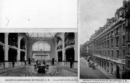 75. 2 CPA. Société D'assurances Mutuelles. 9 Rue Royale. Hall , Façade.  Scan Du Verso. - Commerce