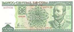 Cuba P 116  5 Pesos 2005 Unc - Cuba
