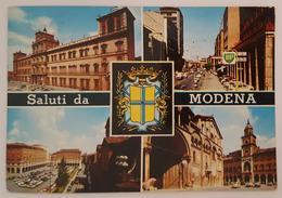 MODENA - Vedutine - Duomo, Piazza Matteotti, Distributore Benzina BP   Vg Stamp - Modena