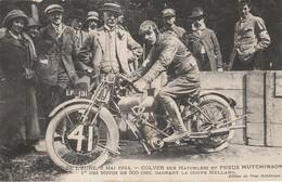 CIRCUIT De L'EURE 3-5-1914;COLVER Sur MATCHLESS,Pneu Hutchinson ,Moto 500 Cc Gagnant De La Coupe Mellano - Sport Moto