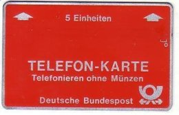 GERMANY : TF01 FRANKFURT 5U Red Complimentary MINT - T-Series : Test