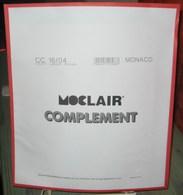 MOC - JEU MONACO MOCLAIR 2004 (Avec Pochettes) - Pré-Imprimés