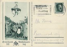 Bild-Karte  Erntedankfest  Reichsbauerntag  1937  Ganzsachen  Gestempelt  2 Scans - Entiers Postaux