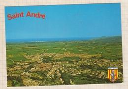 9AL95 ST SAINT ANDRE VUE AERIENNE LA MER LES ALBERES   2 SCANS - Autres Communes