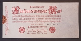 EBN8 - Germany 1923 Banknote 500,000 Mark Pick 92 - [ 3] 1918-1933 : Weimar Republic