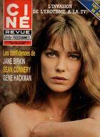 Ciné Revue Télé Programmes N°36 Les Confidences De Jane Birkin - Sean Connery - Poster De Lynda Carter En Wonder Woman - Fernsehen