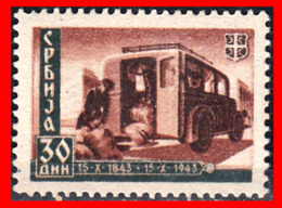 SERBIA SELLO AÑO 1943 WAGON POST - Serbien