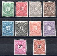 MAURITANIE - YT Taxe N° 17 à 26 -  Neufs * - MH - Cote: 15,00 € - Mauritanie (1906-1944)