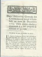 LAMBESC - 1709 - Impositions-8 Pages - Decreti & Leggi