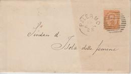 """Palermo. Annullo Numerale Grande Cerchio Sbarre 21  """"a Cannocchiale"""", Su Lettera Senza Testo. - 1861-78 Victor Emmanuel II"""