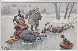 Arthur Thiele , Patinage Sur Glace  Avec Chien ;  Sport D'Hiver ; T.S.N SERIE 1089 - Thiele, Arthur