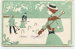 N°11761 - Carte Illustrateur - Art Nouveau - Tongimed - Croquet - Other Illustrators