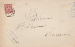 Giulianova 1883. Annullo Numerale Grande Cerchio Sbarre, Su Lettera Senza Testo. - 1878-00 Umberto I
