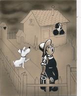 """I45 - Peinture Sur Carton à Dessin """"Il Va Pleuvoir"""" Non Signé - Gouache Aquarellée - Humoristique - Gouaches"""