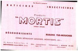 D M/ Buvard Dératisation Mortis (N=2) - Carte Assorbenti