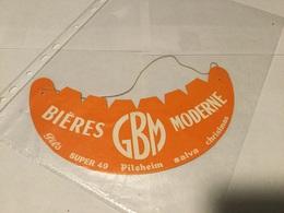 Calot Chapeau Visière Publicitaire Bières GBM Moderne - Reclame
