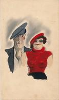 """I45 - Peinture Sur Carton à Dessin """"On Va Guincher"""" - Gouache Aquarellée Signé Pierre Frever 1936 - Estampas"""
