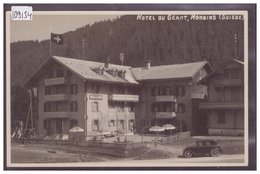 MORGINS - HOTEL DU GEANT - AUTOMOBILE - TB - VS Valais