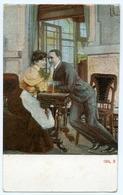 ROMANTIC COUPLE - WAITRESS & GENTLEMAN 934.3 - Couples