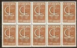 Cept 1966 Andorre Français Andorra Yvertn° 178 *** MNH   Cote 37 Euro 10 Exemplaires - Andorre Français