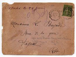 """1918--Lettre Pour FIGEAC-46--type Semeuse Seul Sur Lettre--Beau Cachet Ambulant Type I """"Toulouse à Tarascon"""" - Storia Postale"""