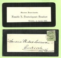 BZ 55 Op Rouwbrief (Lettre De Deuil) Met Stempel MALMEDY , Met Inhoud !!!! (2307) - [OC55/105] Eupen/Malmedy