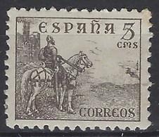 España 0816b ** Cid. Sin Pie De Imprenta. Dentado 10 3/4. 1937 - 1931-50 Nuevos & Fijasellos