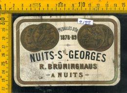 Etichetta Vino Liquore Nuits St. Georges 1926 Francia - Etiquettes