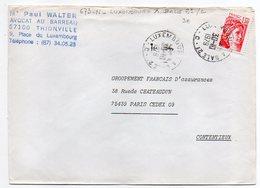 """1979--Lettre De THIONVILLE-57 Pour PARIS-75--type Sabine -cachet Ambulant """"Luxembourg à Bâle-C """"-- - 1961-...."""