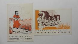 France > 2 Cartes  Postales  Neuves  : Exposition Philatélique   Orphelins Des PTT 1956 - Expositions