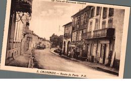 Cpa 82 Caussade Route De Paris Déstockage à Saisir - Andere Gemeenten