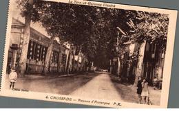 Cpa 82 Caussade Avenue D'Auvergne Déstockage à Saisir - Andere Gemeenten