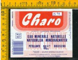 Etichetta Acqua Minerale Estera Charo - Etichette