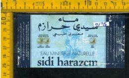 Etichetta Acqua Minerale Estera Sidi Harazem Marocco - Etichette