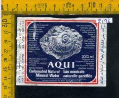 Etichetta Acqua Minerale Estera Aqui Svizzera - Etichette