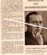 MARIEKERKE..1933 ..JAN HAMMENECKER PRIESTER-DICHTER ° MARIEKERKE1878 + WESTRODE 1932 - Vieux Papiers