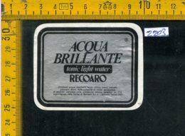 Etichetta Acqua Minerale Recoaro VI - Etichette