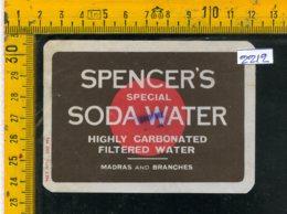 Etichetta Bibita Acqua Minerale Tonica Spencer's - Etichette