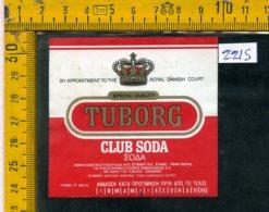 Etichetta Bibita Acqua Minerale Tonica Tuborg - Etichette