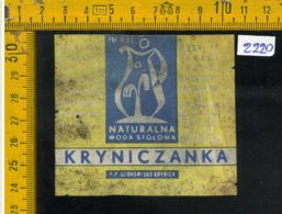 Etichetta Bibita Acqua Minerale Tonica Kryniczanka - Etichette