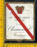 Etichetta Vino Liquore Clossmann Bordeaux Francia - Etiquettes