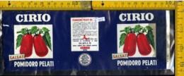 Etichetta Alimentare P. Pelati Salsati Cirio - Etichette