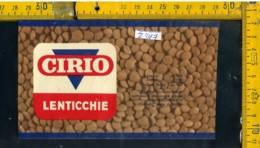 Etichetta Alimentare Lenticchie Cirio - Etichette